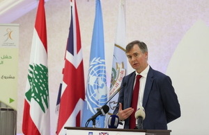 British Ambassador Shorter in Sarafand inaugurating a UK funded project