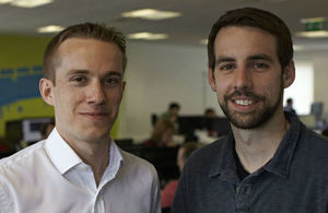 Swiftkey Co-founders Jon Reynolds and Ben Medlock