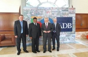 Mike Moon, DIT Director; Asif Ahmad, British Ambassador to the Philippines; Richard Graham, Trade Envoy with Eddie Malone, Head of Cross Cutting infrastructure at DIT