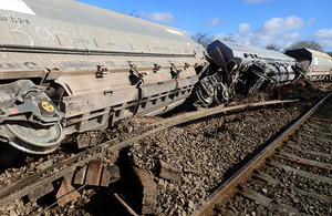 Derailed wagons at East Somerset Junction