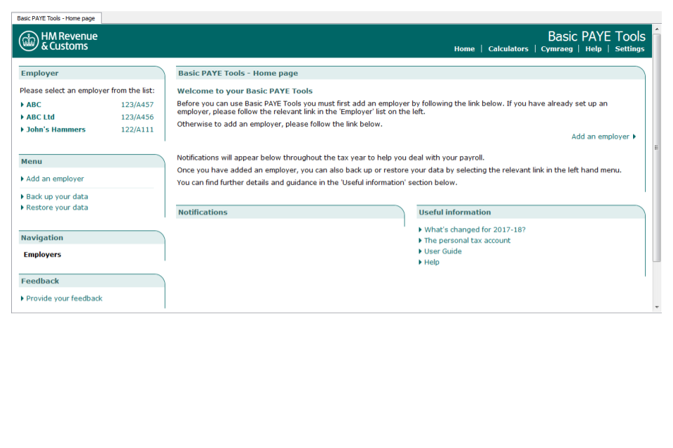 First time users download and install basic paye tools gov uk - Hm revenue office address ...