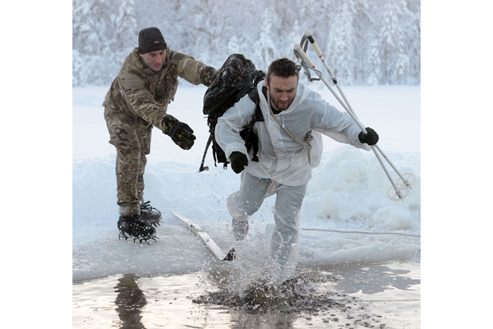 845 Naval Air Squadron personnel on exercise in Norway
