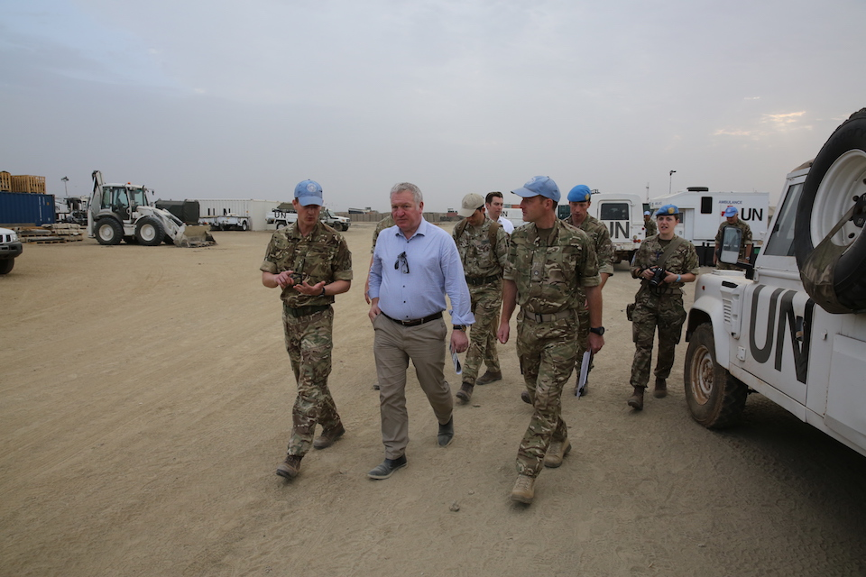Mike Penning visits UK personnel in South Sudan