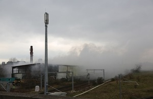 Image shows fire at one of the waste sites