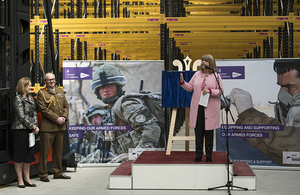 Minister for Defence Procurement Harriett Baldwin opens the Defence Fulfilment Centre in Donnington