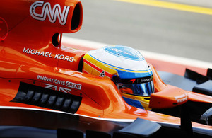 GREAT branding on a McLaren-Honda Formula 1 car