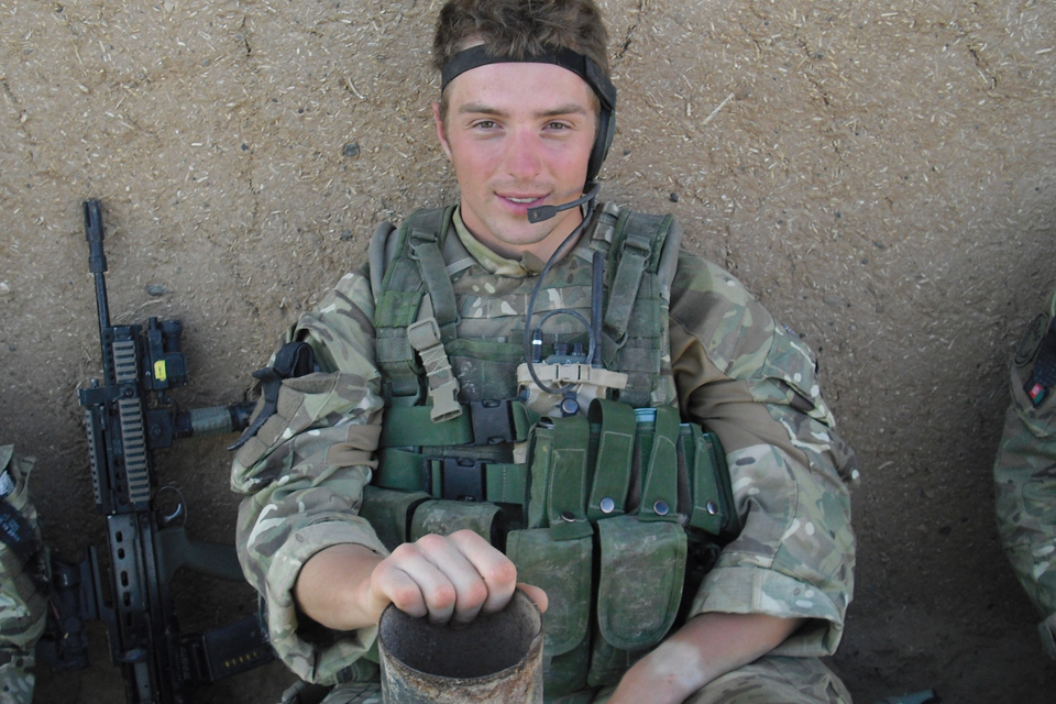 Marine Mark Williams in Afghanistan