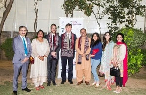 The British Deputy High Commissioner, Mr Richard Crowder with the members of Chevening and British Alumni Association of Pakistan and the senior officials from the British High Commission.