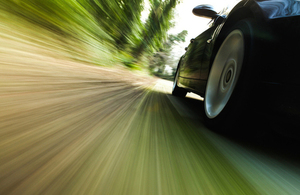 generic image of a moving car