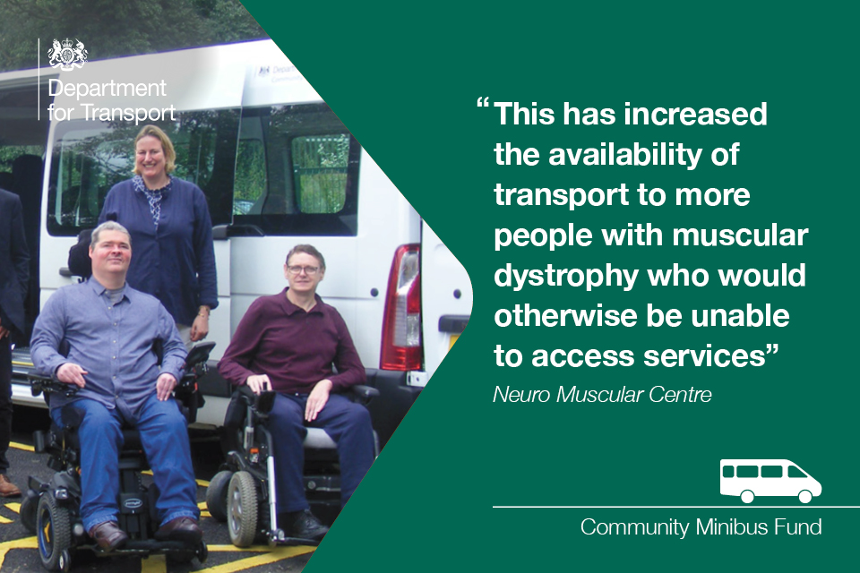 Muscular dystrophy Community minibus fund.