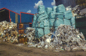 Badly stored waste led to rats and health risk