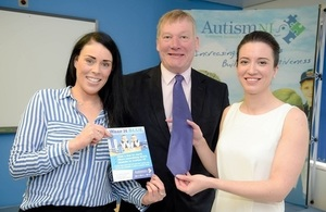 Minister Hopkins visits Autism NI