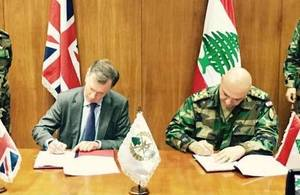 Ambassador Shorter and General Joseph Aoun, Commander of the Lebanese Armed Forces