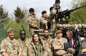 Defence Minister Earl Howe met teenagers at the Army's first Supercamp. Crown Copyright.