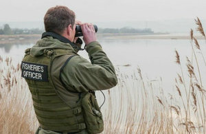 Environment agency enforcement officer during a patrol