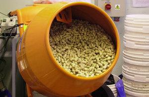 Bulk Sample Mixing using a Cement Mixer