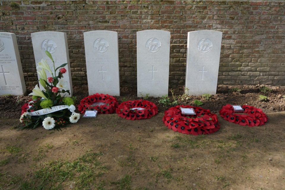New headstones at Hebuterne Cemetery, Crown Copyright, All rights reserved