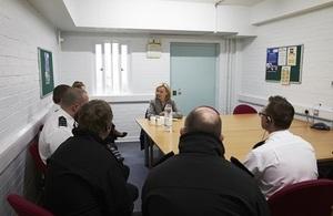 Justice Secretary meeting HMP Wayland staff