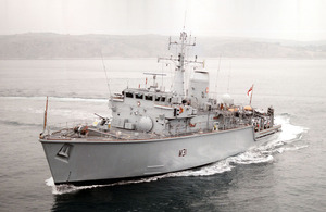 Royal Navy minehunter HMS Cattistock