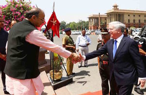 Defence Secretary Sir Michael Fallon met with his Indian counterpart Arun Jaitley
