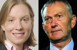 Tracey Crouch and Richard Scudamore