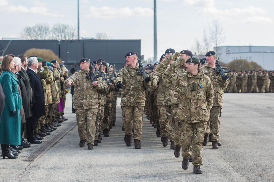 British troops have deployed to Estonia as part of NATO's enhanced Forward Presence. Picture: Estonian Defence Forces.