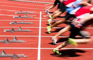 athletes on running track
