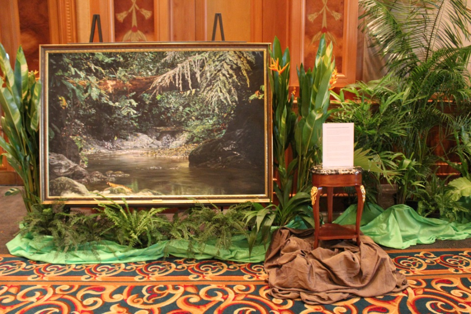 Boyd and Evans painting of Brunei's rainforest from HSBC Brunei