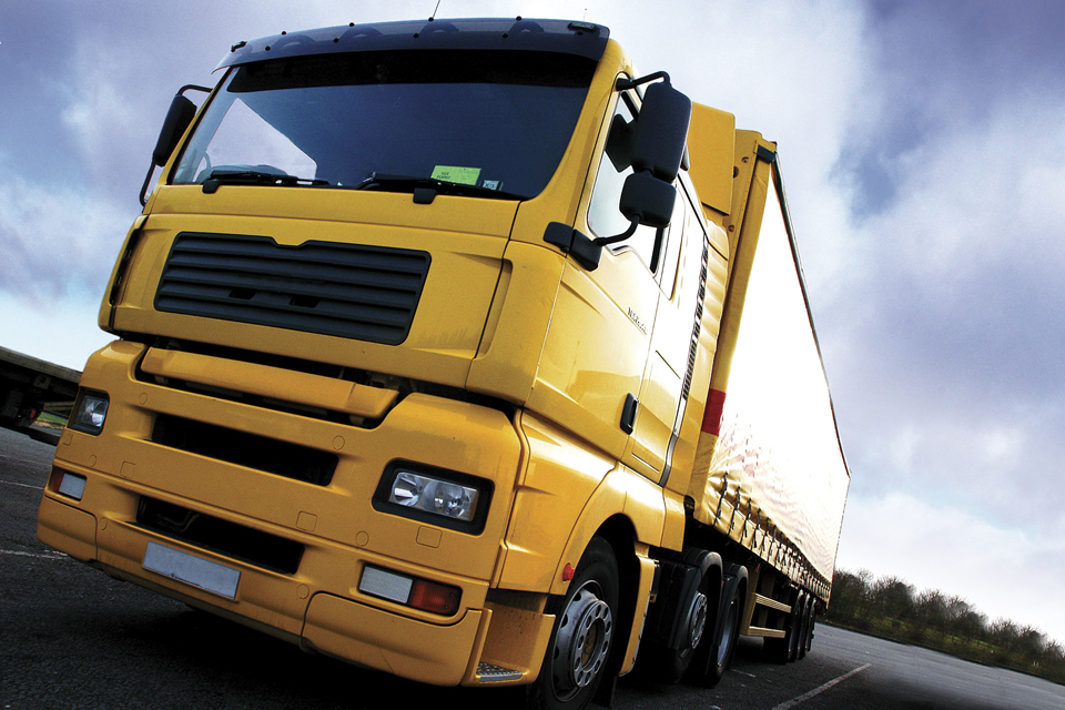 Image of yellow lorry
