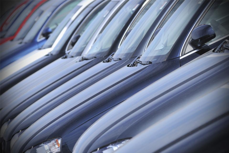 row of car bonnets