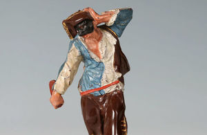 A Meissen Böttger stoneware figure from the Commedia dell'arte.