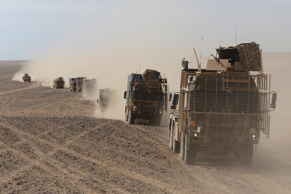 A vehicle convoy