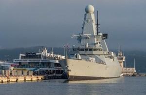 HMS Daring at the Port of Varna