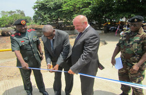 British High Commission Guy Warrington, Deputy Minister of Defence, Captain (Rtd) Abdul Kamara and Chief of Defence Staff, Luit. Gen. John Milton
