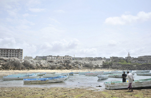 Boats on the coast of Somalia