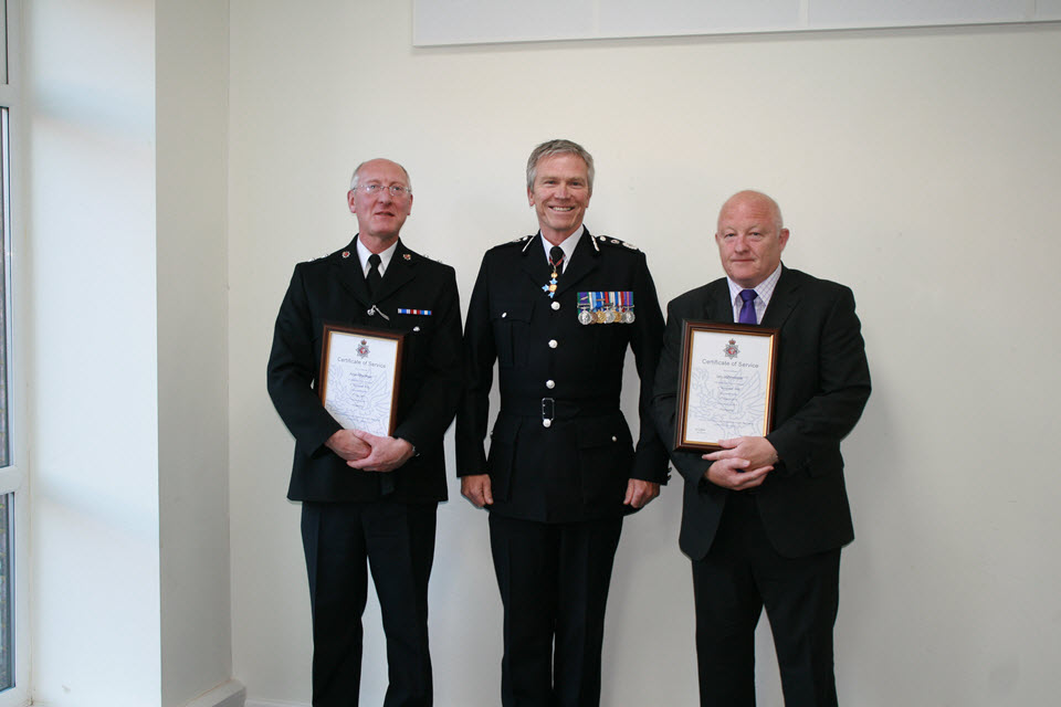Allan Macrae. Chief Constable and Ian Johnstone