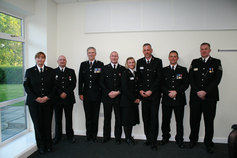 Laura Forster, Graham Shaw, Chief Constable, Ben Strain, Tina Ferris, Mike Livesey, Neil Henderson, Adam Anderson-Cole