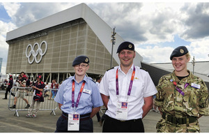 Service personnel at the Olympic Park in Stratford (library image) [Picture: Sergeant Alison Baskerville, Crown Copyright/MOD 2012]