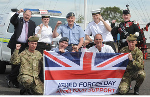 Service personnel supporting Armed Forces Day 2012 at HMS Caledonia in Scotland [Picture: Mark Owens, Crown Copyright/MOD 2012]