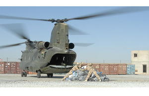 Post arriving at Lashkar Gah by Chinook helicopter (stock image) [Picture: Senior Aircraftwoman Kimberley Waterson, Crown Copyright/MOD 2007]