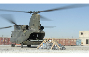Post arriving at Lashkar Gah by Chinook helicopter (stock image) [Picture: Senior Aircraftwoman Kimberley Waterson RAF, Crown Copyright/MOD 2007]