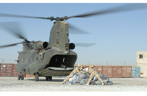Post arriving at Lashkar Gah by Chinook helicopter (stock image)  [Picture: SAC Kimberley Waterson RAF, Crown Copyright/MOD 2007]