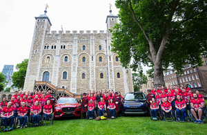 The UK Invictus Games Team 2017 at the Tower of London.