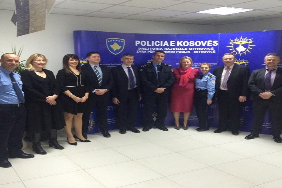 Delegates and members of Kosovo Police in Mitrovica, Kosovo