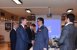 Ambassador Shorter with Major General Imad Osman
