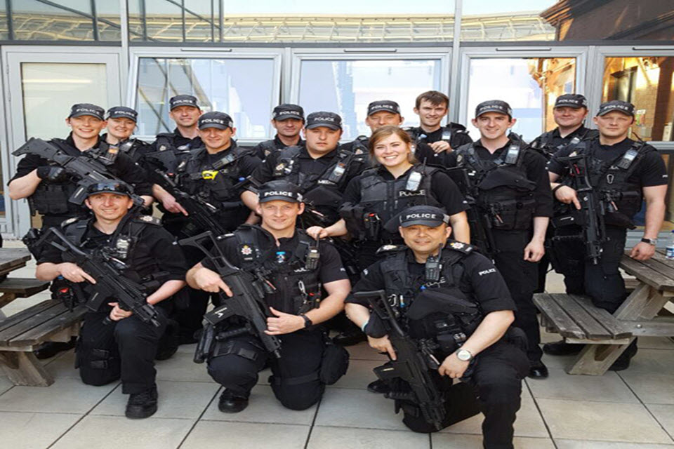 officers in Newcastle city centre