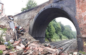 Image showing partial bridge collapse at Barrow upon Soar