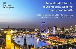 Youth Mobility Scheme 2nd ballot