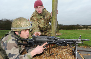 A French Army officer cadet taking part in a live firing exercise [Picture: Corporal Obi Igbo, Crown Copyright/MOD 2013]