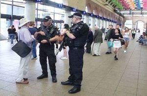 Hull Station ahead of Radio 1 Big Weekend. Photo: Ministry of Defence Police. All rights reserved